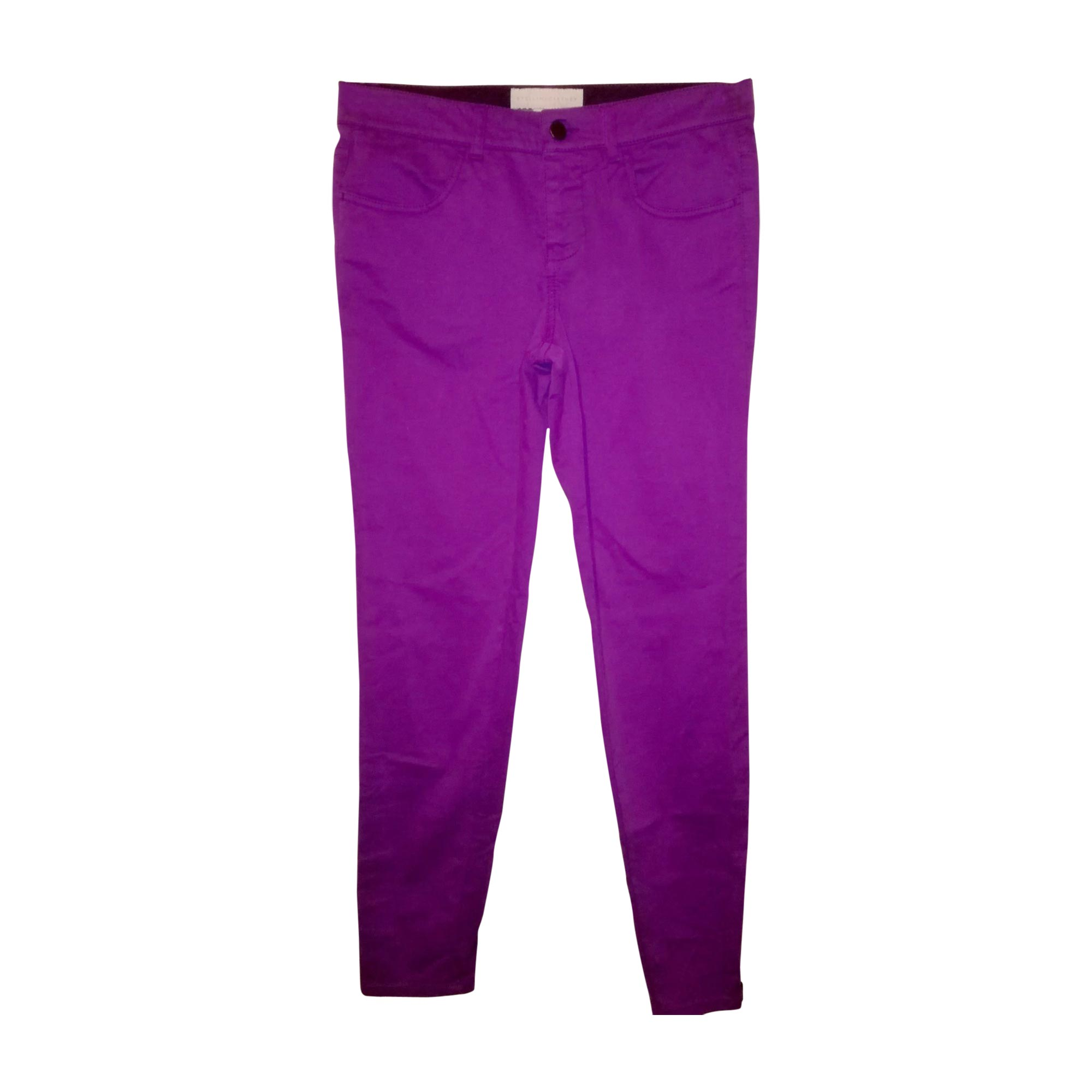 Jeans slim STELLA MCCARTNEY Violet, mauve, lavande
