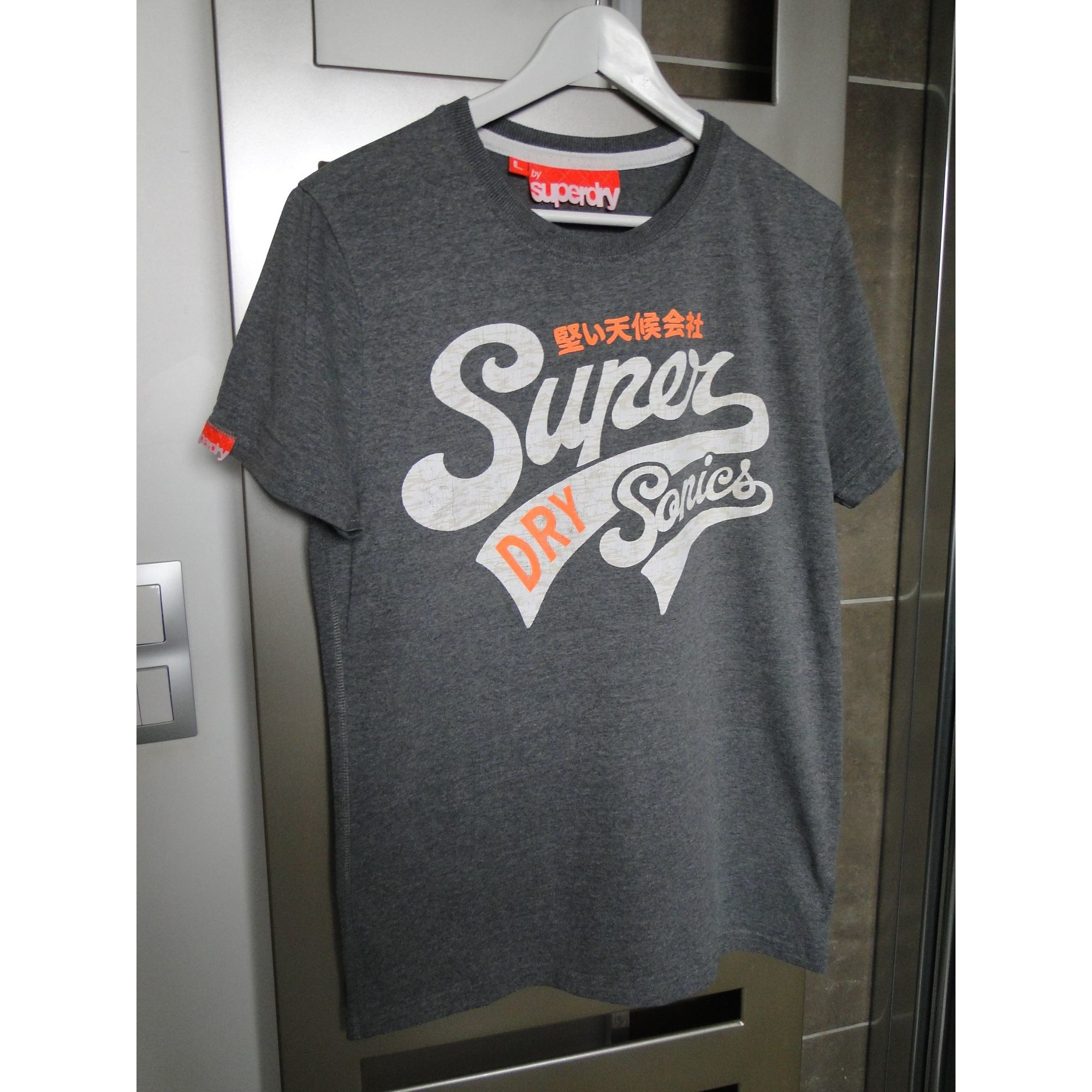 Tee-shirt SUPERDRY Gris, anthracite