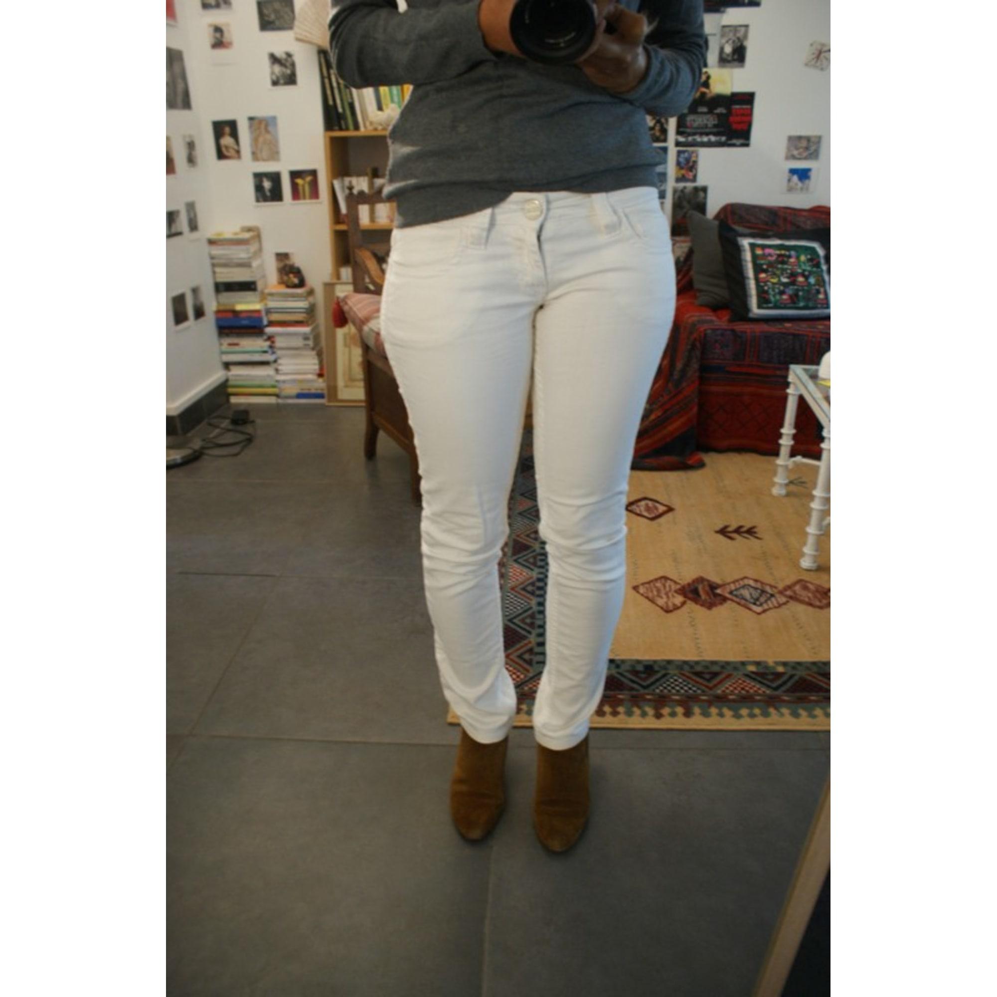 Jeans slim JEAN PAUL GAULTIER Blanc, blanc cassé, écru