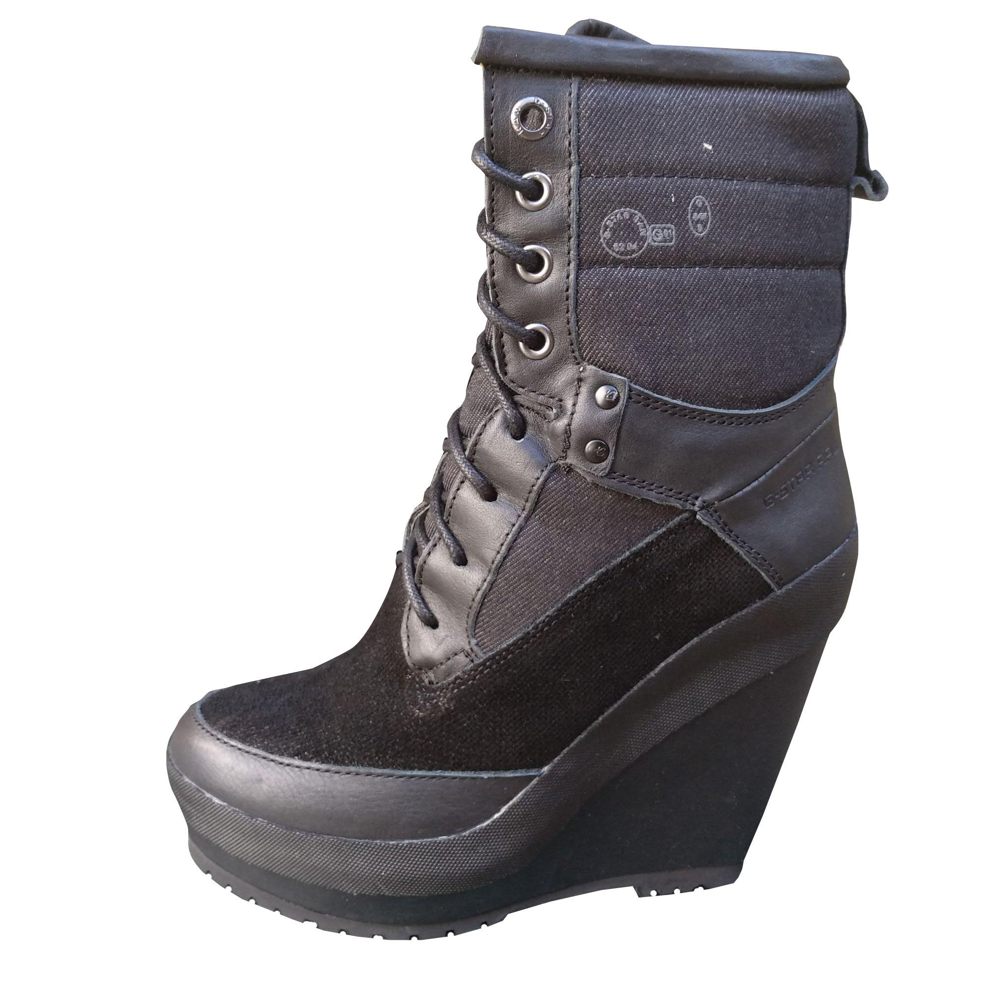 Bottines & low boots à compensés G-STAR Noir