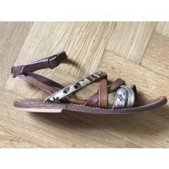 Sandales plates  K.Jacques  pas cher