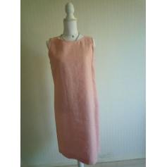Robe mi-longue 100 % lin  pas cher