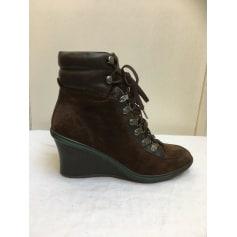 Bottines & low boots à compensés Geox  pas cher