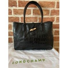 Sac en bandoulière en cuir Longchamp Roseau pas cher