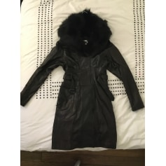 Manteau en cuir Plein Sud  pas cher
