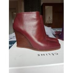Bottines & low boots à compensés Céline  pas cher