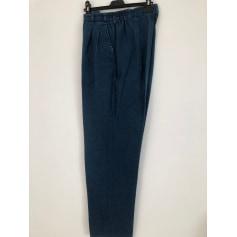 Pantalon droit Bleu de Sym  pas cher