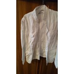 Veste Blanc Bleu  pas cher