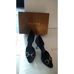 Escarpins à bouts ouverts Gucci Ace pas cher