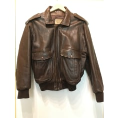 Leather Zipped Jacket Lee Cooper