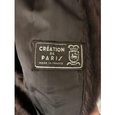 Manteau en fourrure Création de Paris  pas cher