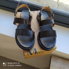 Sandales compensées M. Moustache  pas cher