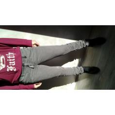 Pantalon slim, cigarette 2 High  pas cher