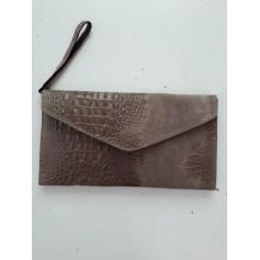 Sac pochette en cuir Genuine Leather  pas cher