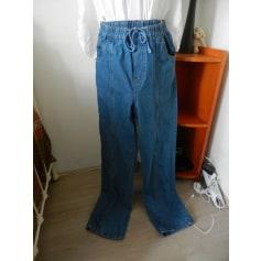 Pantalon droit natural option  pas cher