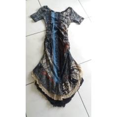 Robe mi-longue Gate jean  pas cher