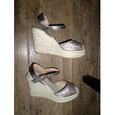 Sandales compensées Heyraud  pas cher