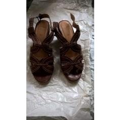 Sandales compensées Sioux  pas cher
