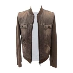 Denim Zipped Jacket Alexander McQueen