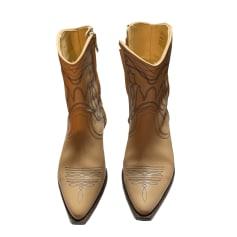 Santiags, bottines, low boots cowboy Sandro  pas cher