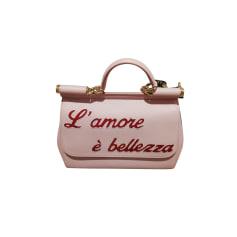 Sac à main en cuir Dolce & Gabbana  pas cher
