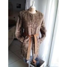 Manteau en fourrure La Redoute  pas cher