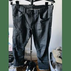 Jeans droit Uniqlo  pas cher