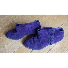 Bottines & low boots à talons La Redoute Collections  pas cher