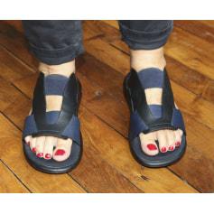 Sandales plates  Yohji Yamamoto  pas cher