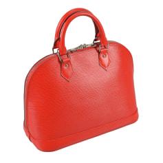 Sac pochette en cuir Louis Vuitton Alma pas cher