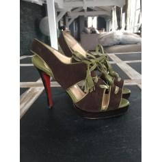 Sandales compensées Christian Louboutin  pas cher