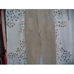 Pantalon droit cannis  pas cher