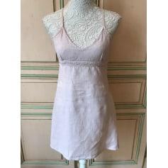 Robe courte Blanc Bleu  pas cher