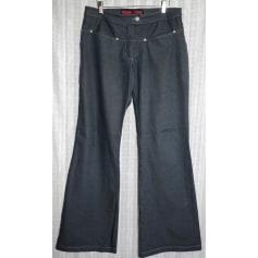 Jeans très evasé, patte d'éléphant Freeman T Porter  pas cher