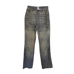 Pantalon droit Just Cavalli  pas cher