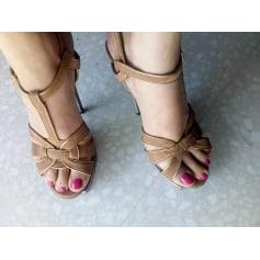 Sandales à talons Yves Saint Laurent Tribute pas cher