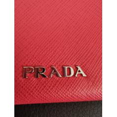 Sac pochette en cuir Prada  pas cher