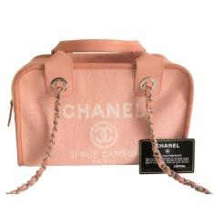 Sac à main en cuir Chanel Deauville pas cher