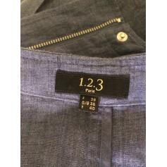 Veste Bleu 123  pas cher