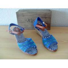Sandales compensées Wilady  pas cher