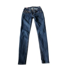 Jeans slim True Religion  pas cher