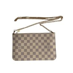 Sac pochette en cuir Louis Vuitton Neverfull pas cher