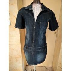 Robe courte Revers Jeans  pas cher