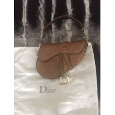 Sac à main en cuir Dior Saddle pas cher