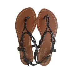 Sandales plates  Ralph Lauren  pas cher