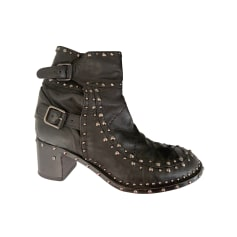 Bottines & low boots motards Laurence Dacade  pas cher