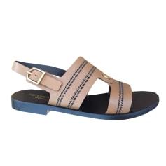 Sandales plates  Heschung  pas cher