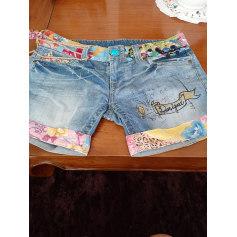 Short en jean Desigual  pas cher
