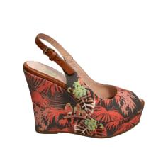 Sandales compensées M Missoni  pas cher