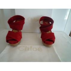 Sandales à talons Chloé  pas cher